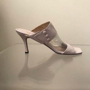 Stuart Weitzman Square Toe Strap Leather Heels NEW